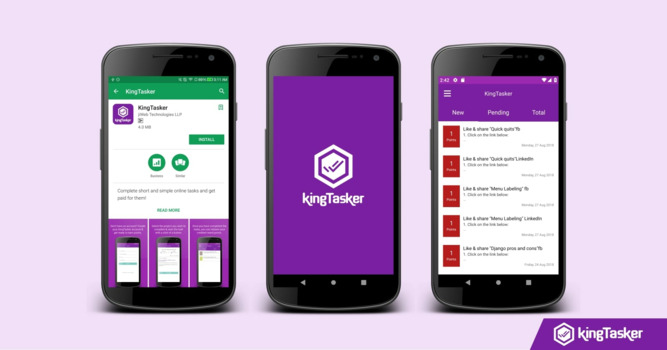 KingTasker Announces the Release of its Mobile Application!